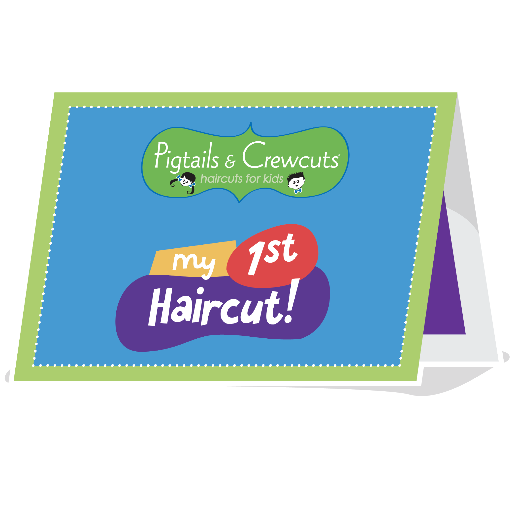 Haircut services - 1st Haircut Tent Card
