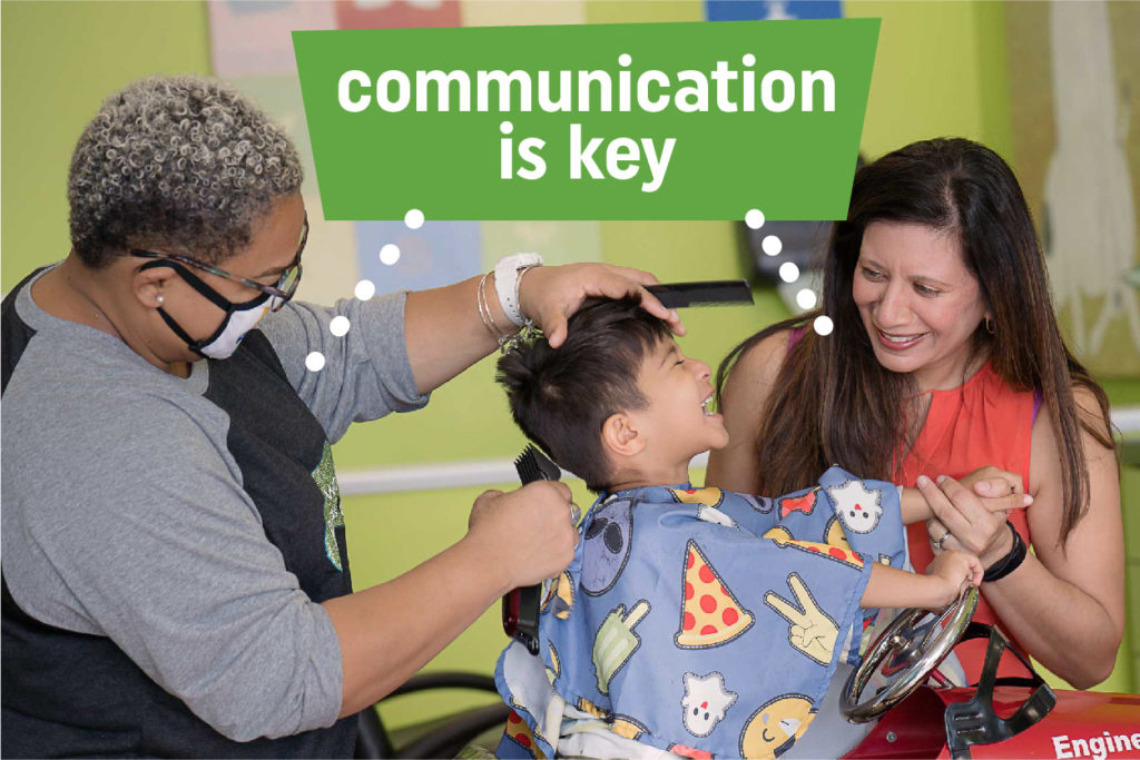 Communication between stylist and parent is key
